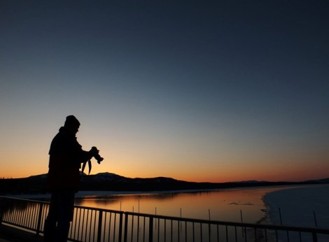 Jukka Photographing the Sunset