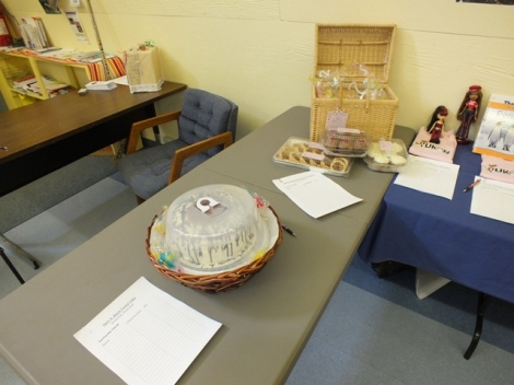 Items in the Auction, Starting with These Delicious Baked Goods Donated by a Local Baker