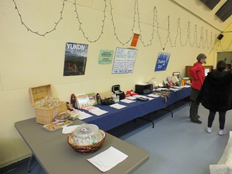 My Tables of Items at the Silent Auction