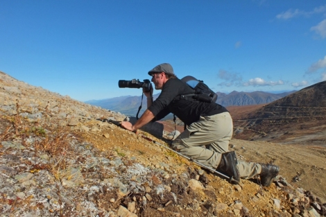 Cameron Sneaking Up on Ptarmigan