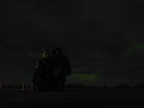 Rachel and Jenna and the Northern Lights