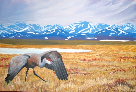 North Slope Sandhill - acrylic on canvas - 36 x 48 inches. Sold.