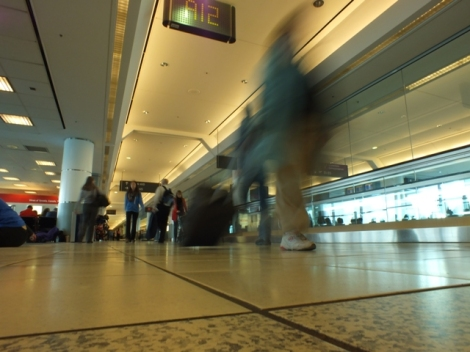 Passersby at the Toronto Airport