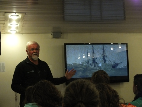 Olle Giving His Shackleton Presentation