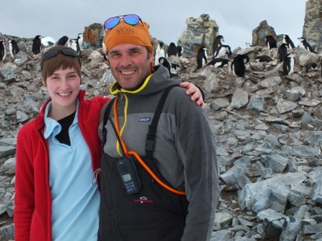 The Two Birders with the Antarctic Birds
