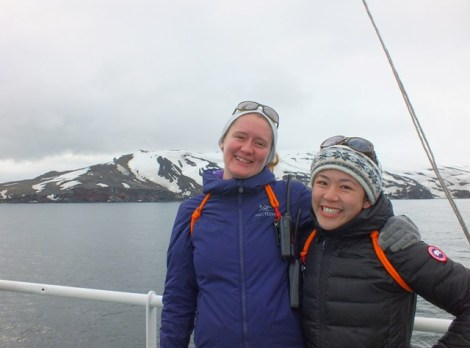 Our Two Super Amazing Expedition Coordinators, Clare Glassco and Shirley Manh