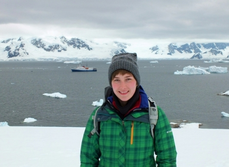 Me with the M/V Ushuaia at Charlotte Bay