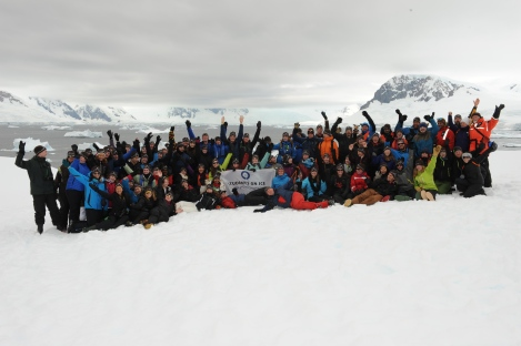 Students on Ice Antarctic Group 2013/14 - Photo By Mike Beedell