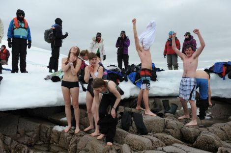 The Polar Plunge - Photo By Mike Beedell
