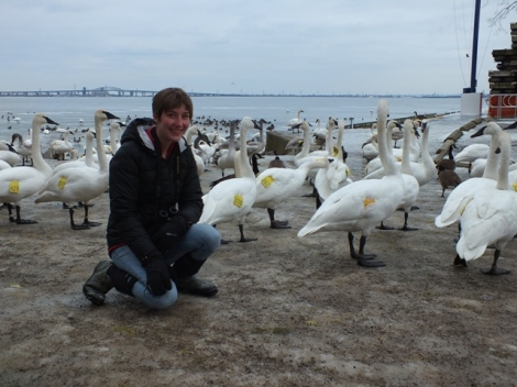 Me with the Trumpeters. Thanks Mark for the Photo!