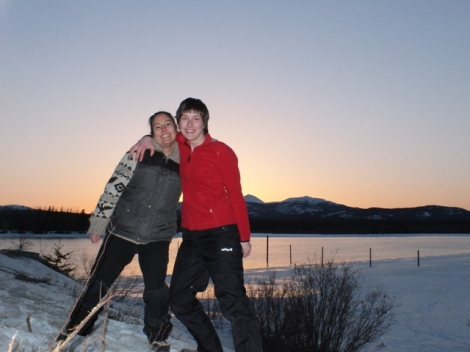 Cousin Marilyn and I in Carcross before beginning our NOS Survey along Windy Arm