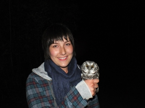 Me With My First Boreal Owl in Hand.