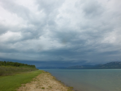Storm on the Marge of Lake Laberge