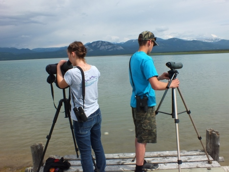 Me and Nick scoping Lake Laberge