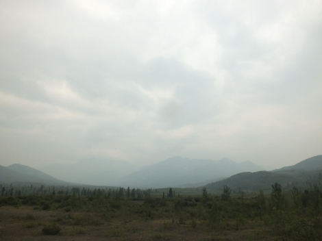 It was very smokey in Dawson and up the Dempster due to nearby forest fires. My head ached and eyes burned for several days.