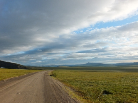 The tundra plains up the Dempster Highway, near the NWT and YT border